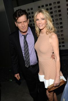 "Charlie Sheen and Heather Locklear arrive for the premiere of Dimension Films' ""Scary Movie 5"" at ArcLight Cinemas Cinerama Dome on April 11, 2013 in Hollywood, California"