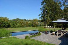 piscine naturelle avant apres renovation terrain en pente moyenne terrasse pisicine ecologique Ferrard