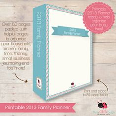 PRINTABLE 2013 Family Planner by BUSYLITTLEBUGSshop on Etsy, $39.95