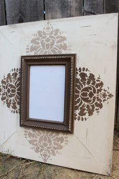 distressed wood frames | 5x7 Wood Distressed Hand Painted Picture Frame 4 Stamped Floral: Any 2 ...