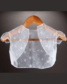Millie Grace Girls White Lace Bolero Style Jacket