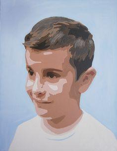 Pablo 2015. Retrato en acrílico sobre lienzo. A Romero para turetratopop.com . Retratos pintados a mano.