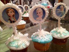 Frozen cupcakes cumpleaños de mi hija
