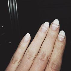❈✧ mani monday ✧ we LOVE the negative spaces nail design ✧❈