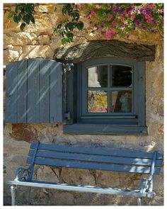 Lavaudieu, France shutters for cave windows Old Doors, Windows And Doors, Window View, Window Detail, Open Window, Provence France, Through The Window, French Countryside, Architecture