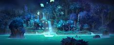 ArtStation - blue night, Erin Lin