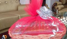 Maroon decorated basket of love in just Rs.330