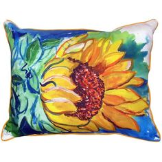 You'll love the Windy Sunflower Indoor/Outdoor Lumbar Pillow at Wayfair - Great Deals on all Décor & Pillows products with Free Shipping on most stuff, even the big stuff.