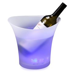 5L Colorful LED Ice Bucket Eco-Friendly Plastic Bucket Champagne Wine Beer Luminous Cooler Chiller For Bars Nightclubs Party