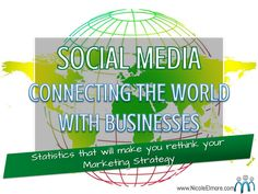 social-media-connecting-the-world-with-businesses by Nicole Elmore, LLC via Slideshare