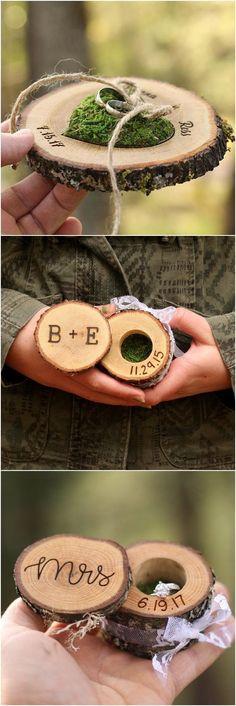 Personalized Ring Box Wedding Ring Box Wood Ring Box Proposal Ring Box Engagement Ring Box Hippie Wedding Ring Holder Custom Ring Box Wood #customweddingrings #weddingring