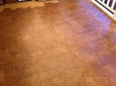 Brown paper floor covering