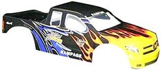 Redcat Racing Truck Body 15 Scale Black Flame -- Click image to review more details.