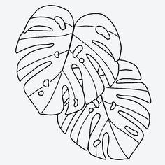 Leaf Outline, Flower Outline, Outline Art, Outline Designs, Leaf Drawing, Plant Drawing, All Tattoos, Leaf Tattoos, Boffi