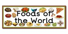 Foods from Around the World Resources - Primary Treasure Chest Classroom Banner, World Recipes, Main Dishes, Crafts For Kids, Paper Crafts, Display, Meals, Day, Treasure Chest