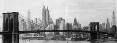 Prickly skyline with famous bridge, 1935.