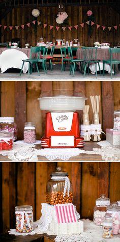 Vintage Hochzeit: Candy Bar