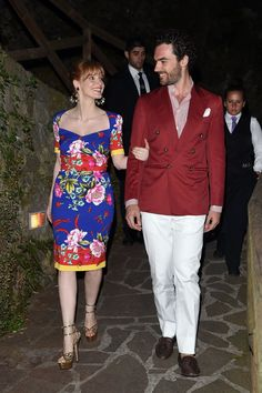Pin for Later: This Week's Can't-Miss-Them Celebrity Pictures  Jessica Chastain and boyfriend Gian Luca Passi De Preposulo shared the look of love at the Ischia Global Film and Music Fest in Italy.