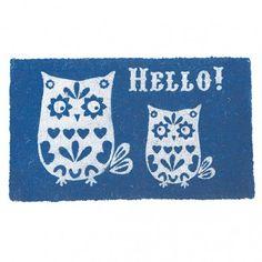 Hello! Tweeting Owls Door Mat - Door Mats - Home Accessories - Homeware