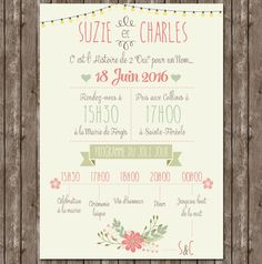 faire-part mariage doux original vintage tendre - Nadège Hostetter - Pint Save The Date Invitations, Vintage Wedding Invitations, Wedding Stationary, Wedding Paper, Wedding Cards, Diy Wedding, Wedding Day, Weeding Planner, Wedding Save The Dates