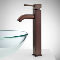 Holden Single-Hole Vessel Faucet with Pop-Up Drain - Bathroom Sink Faucets - Bathroom 159