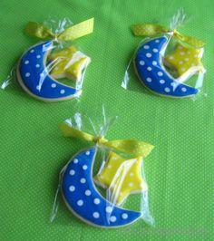 Moon and star sugar cookies