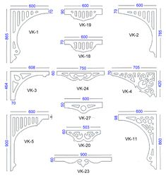 Internal Fretwork Arches - Diagram 1