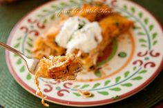 Cheesy Chicken Enchiladas by Amber (Sprinkled With Flour), via Flickr