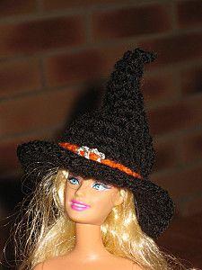 chapeaux-barbie sorcière tuto : http://tricotdamandine.over-blog.com/tag/chapeaux%20barbie%20-%20tutos/