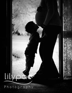 Gorgeous mother and son maternity photograph
