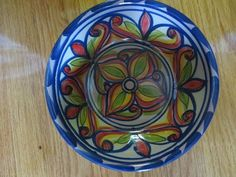 Vinvintage Hand Painted Mexican Pottery Talavera Bowl Signed Wall Decor | eBay