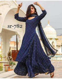 Lehenga Georgette Dupatto: net with… – slippiest-prime Pakistani Dresses Casual, Indian Fashion Dresses, Indian Gowns Dresses, Latest Fashion Dresses, Dress Indian Style, Pakistani Dress Design, Indian Designer Outfits, Stylish Dresses, Pakistani Clothing