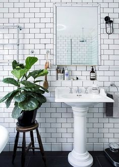 Vintage style bathroom with a modern twist - Home Beautiful