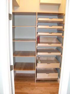 Closet & Walk-In Pantry Pull Out Shelves - pantry - boston - ShelfGenie of Massachusetts