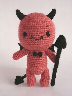 2014 Halloween crochet for home decorating.RED DEVIL PDF crochet pattern