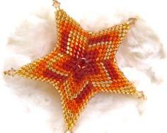 Star Flame Stitch Ornament Tutorial