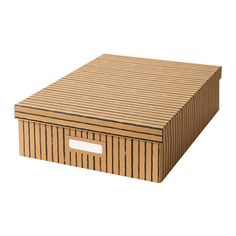 TJENA Box with compartments - brown - IKEA || board games?
