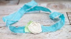 Home Tweet Home - tieback in tones of aqua/teal, pale lime green and cream by SoTweetDesigns, $9.50