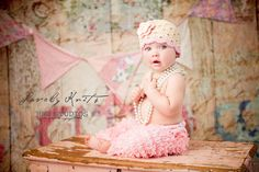 Sale NEW 06 Month Crochet Beanie With Flower by LovelyKnits, $16.76
