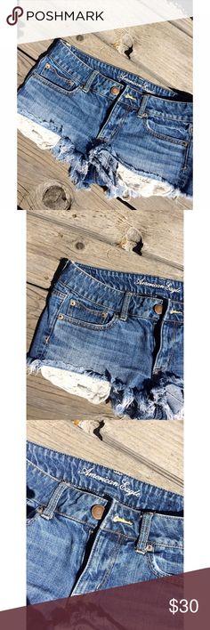 American Eagle Shorts! Pretty blue, trendy American Eagle Shorts! American Eagle Outfitters Shorts Jean Shorts