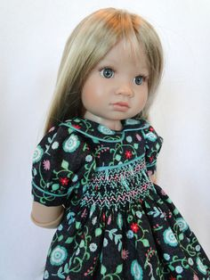 Hand smocked dress for Kidz N Cats Doll by dancingwithneedles