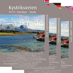The Kystriksveien Travel guide 2014. English, german and norwegian language.  Order it on www.kystriksveien.no  #travel #reisehåndbok #kystriksveien #norway #travel_information #road_17
