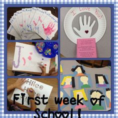 First Week of School! Lots of name, game, book ideas for the first week.