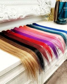 Add a pop of color without the commitment! Visual Arts, Hair Extensions, Color Pop, Cool Hairstyles, Hair Color, Instagram, Weave Hair Extensions, Extensions Hair, Fancy Hairstyles