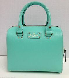 NEW NWT Kate Spade Wellesley ALESSA Tote Bag Purse Leather Cross-body Fresh Air #katespade #MessengerCrossBody