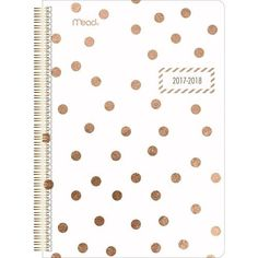 Gold Polka Dots Academic Planner. Back to school supplies for teens. Back to school essentials for highschool.