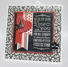 Chalkboard Valentine by cullenwr - Cards and Paper Crafts at Splitcoaststampers