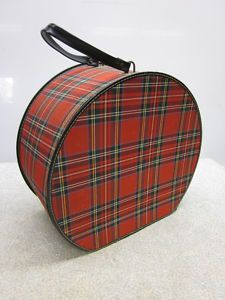 plaid hat box