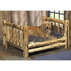Rustic Dog Bed  blackforestdecor.com
