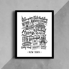 NYC Print New York City Poster New York NYC Wall Art
